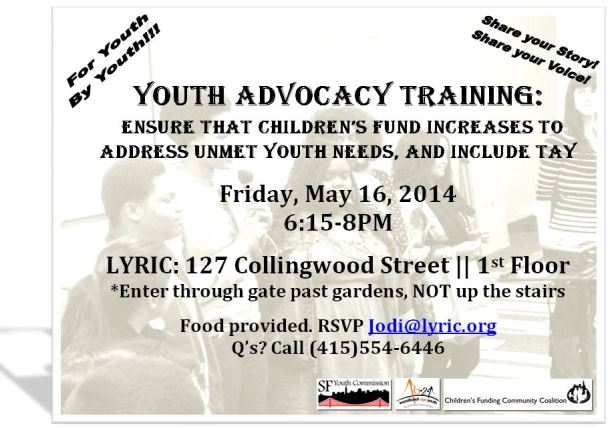 Youth Advocacy Training Flier (3)